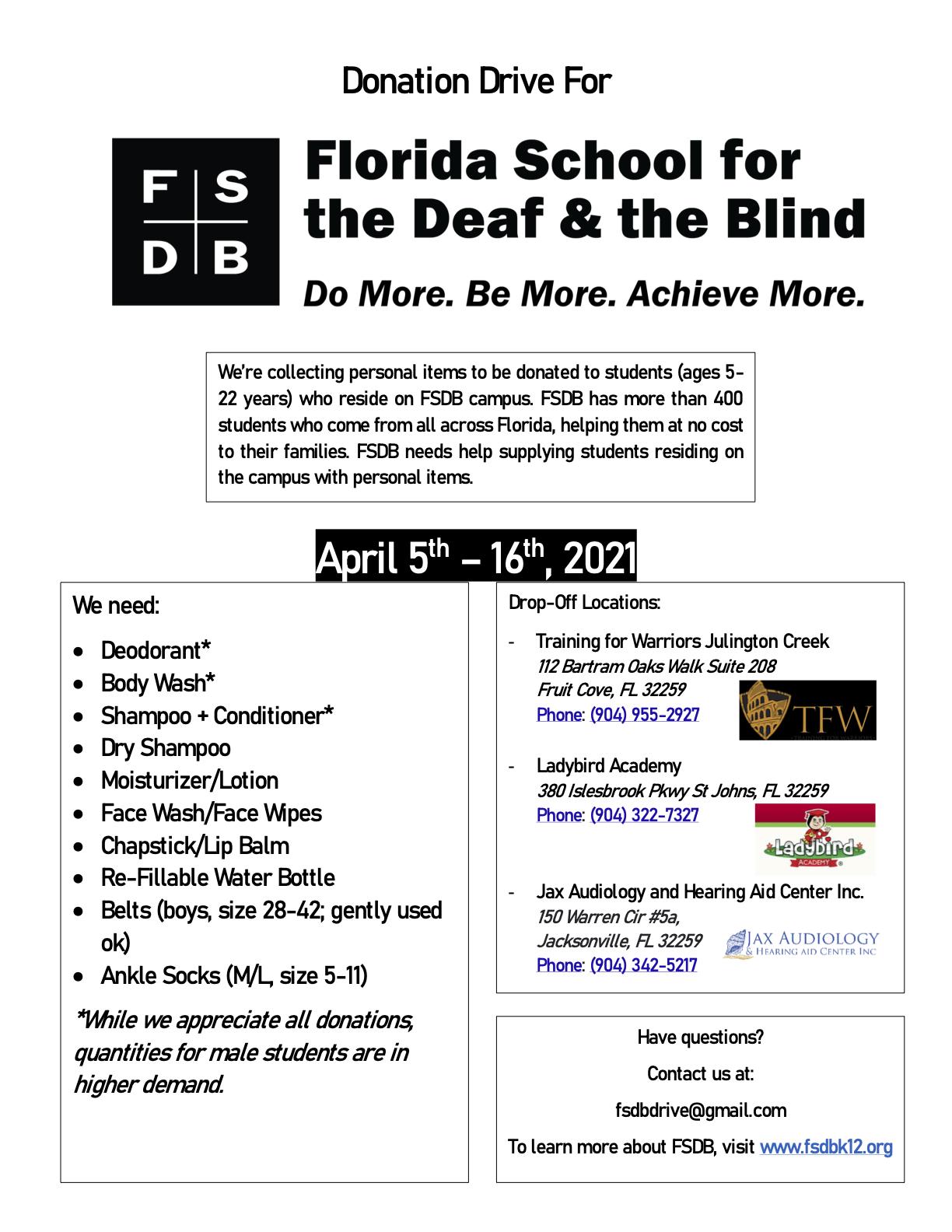 FSDB Drive Flier